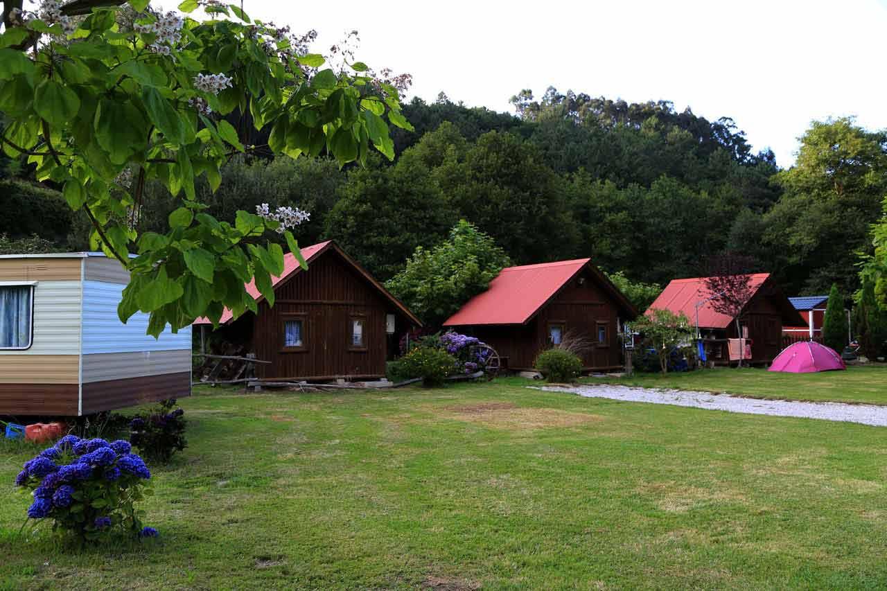 Bungalows en el camping Los Pradones